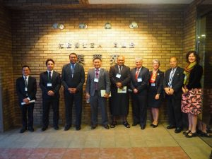 WHOの方々とベトナム、フィジー共和国、マーシャル諸島共和国の保健大臣等が 介護ロボットの視察に来苑されました。