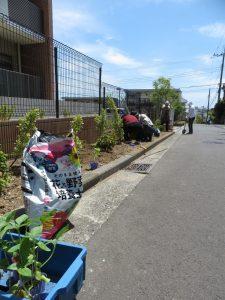 地域ボランティアの皆さまと一緒に当施設の花壇に『ひまわり』の苗を植えました。 ひまわりは当施設が所在する港南区のシンボルマークにもなっております。 夏に向けてひまわりが元気に花を咲かせる姿を楽しみに地域ボランティアの皆さまのご協 力のもと、ご入居者の皆さまと大切に育てていきます!
