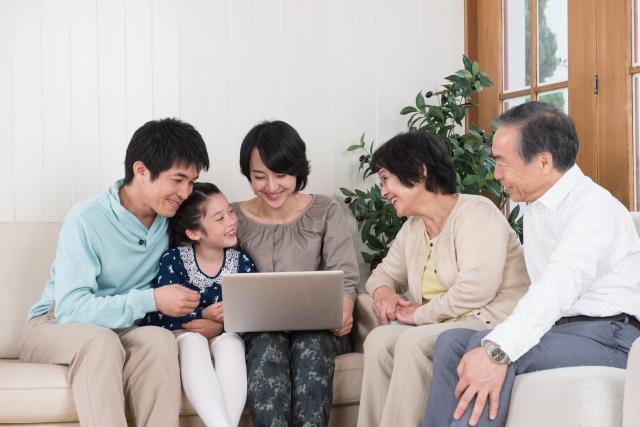 家族みんなでホームページが見れる