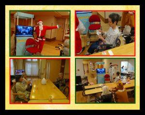 昨年は横浜クリスチャンスクールの生徒さんが来苑し、クリスマスソングの披露と交流をさせてもらい ましたが、今年はリバーサイドの皆さんに合唱のDVDとクリスマスカードのプレゼントを頂きました。 画面に釘付け、素敵な歌声に拍手喝采!クリスマスカードを何度も何度も読み返していました。